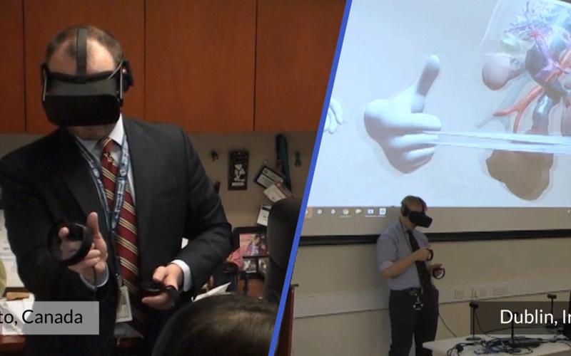 Trans-Atlantic Virtual Reality tumor boards