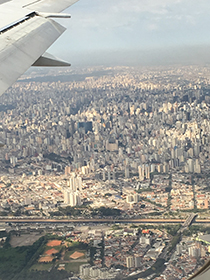 Sáo Paulo from the air