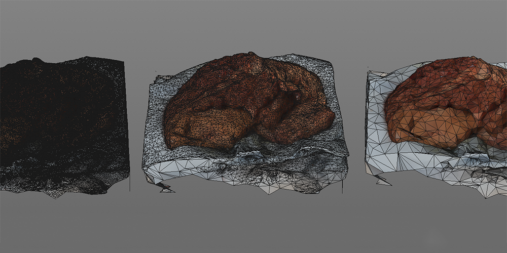 Photogrammetry model processing